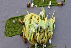 como hacer espagueti verde cremoso